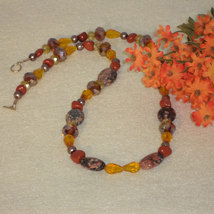 Beaded Necklace With Mixture Of Colors, Sizes And Shapes  FREE SHIPPING - $28.00