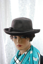 August Accessories Bow Classics Kettle Brown Wool Hat NEW - $24.74