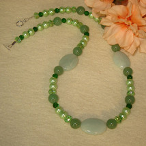 Amazonite Gemstone Beaded Necklace   FREE SHIPPING - $30.00