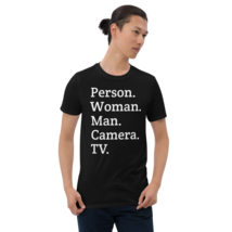 person woman man camera tv / person woman man camera tv T-Shirt image 8