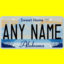 1/43-1/5 scale custom license plate set any brand RC/model car - Alabama... - $11.00