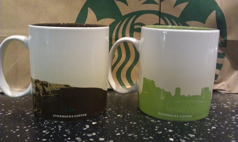 Starbucks, dublin and ireland, 16 OZ  coffee mug set of 2