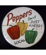 "Farmstand Vegetables Salad plate Sweet Peppers David Carter Brown Sakura 8"" - $12.55"