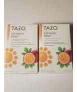 tazo turmeric bliss herbal pasionfruit tea 20 filterbags lot of 2 boxes new - $16.95
