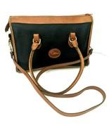 Dooney & Bourke Vintage Black Brown Leather Zip Top Large Crossbody Bag ... - $49.49
