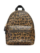 Coach F24208 Mini Charlie Backpack With Wild Heart Print Natural Multi $... - $133.64