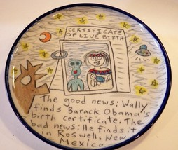 Wallyware Plate Barack Obama Birth Certificate Tom Edwards - $28.06