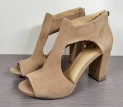 Michael Kors Sabrina Sandal, Tan Suede, Womens Size 11 M - $50.99