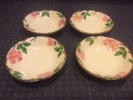 "6 Franciscan Desert Rose 5 1/4""COUPE Cereal Fruit Berry Dessert Bowls Usa - $28.66"