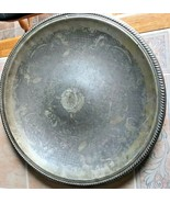 18 1/2 inch Large Ornate English Silver Mfg Corp Platter Silver Plated  - $24.99