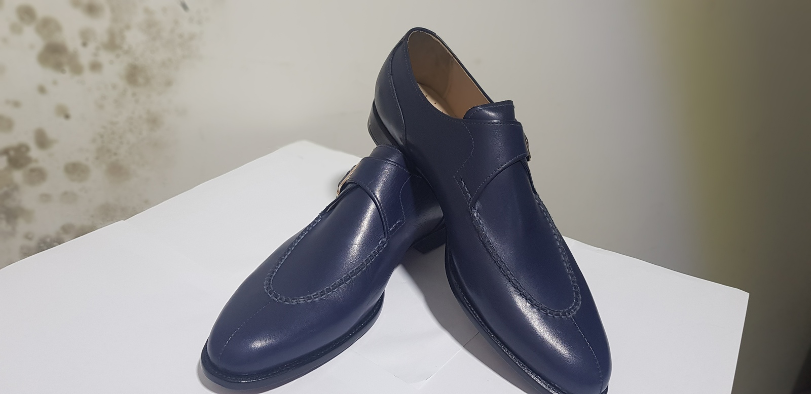 Primary image for New Handmade Men's Blue Monk Strap Formal Dress Shoes