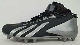 Adidas Mens Size 18 Filthy Quick Hi Wide Black Silver Football Cleats w/ Tag - $56.09
