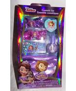 New Disney Junior Cosmetic Set Sofia First Nail Polis Lip Gloss Beauty B... - $5.40