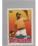 Dave Stewart - OF - Super Star Baseball Card #27 - Topps Company  1990 C... - $0.97