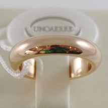 SOLID 18K YELLOW GOLD WEDDING BAND UNOAERRE RING 10 GRAMS MARRIAGE MADE IN ITALY