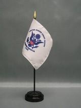 "COAST GUARD 4X6"" TABLE TOP FLAG W/ BASE NEW USCG DESK TOP HANDHELD STICK... - $4.95"