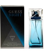 Guess Notte Uomo 101ml EDT Colonia Spray Nuovo in Scatola - $26.26