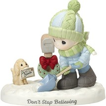 """Precious Moments""""Don't Stop Believing Boy Shoveling Snow by Mailbox Figu... - $74.90"""