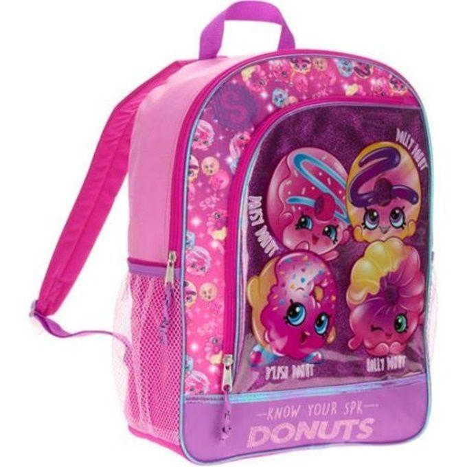 "Shopkins Backpack Pink Girls NEW  16"""