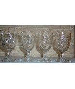 Set Of 4 Adams EAPG- Baltimore Pear / Gipsy Water Goblets Circa 1874 - $35.00
