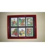 ALICE IN WONDERLAND - 6 pictures in mat (Buy UNFRAMED $27.00 or  FRAMED ... - £19.60 GBP
