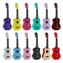 Ukulele Basswood Acoustic 4 Nylon Strings Guitar Musical Beginners Basic... - $34.19