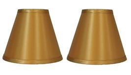 "Urbanest Gold Satin Hardback Chandelier Mini Lamp Shades Set of 2, 3""x6""x5"" - $13.37"