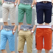 Men's Casual Slim Summer Big Yards of Teenagers 7 Minutes of Pants - $28.56