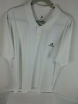 Adidas Aeroready Club Tennis Golf Polo Size XXL Men's White Short Sleeve GK7010 - $34.99