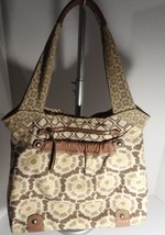 Fossil extra large multi colored geometric print pattern purse - $34.65