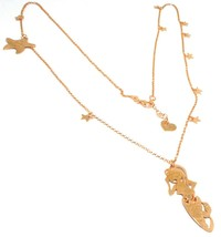 Long Necklace 70 cm, Silver 925, Pendant Mermaid, Stars Marine, le Favole image 2