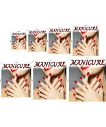 Manicure VII Line Pattern WGLV See-Through Window Vinyl Poster Salon ad ... - $19.36+