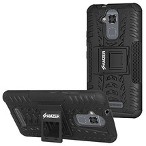 Amzer Hybrid Warrior Case - Black/ Black for Asus ZenFone 3 Max ZC520TL - $9.85