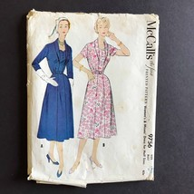 McCall's Misses Dress 1954 Sewing Pattern 9756 Size 16.5 Bust 37 - $14.72