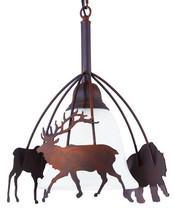 Large Rustic Metal Moose Bear Deer Pendant Light Cabin Cottage Lodge Lig... - €109,61 EUR