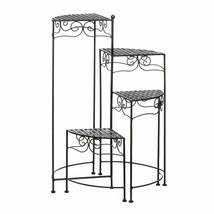 Multi Tiered Plant Stand, Black Plant Display Stand - Iron - $72.41