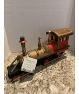 "Trimsetter Christmas Wooden Locomotive TrainHomeDecor. New 16.5""L X 4""W... - $42.57"