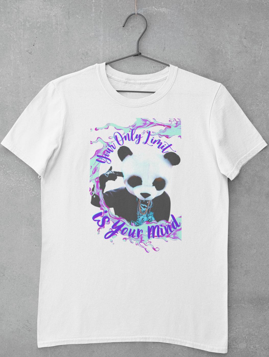 Panda Your Only Limit T-Shirt | Panda Bear Graphic Design Tee | Ships Free!