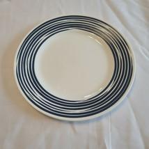 Corolle Boutique Brushed Dinnerware Vitrelle Dinner Plate White Cobalt B... - $24.74