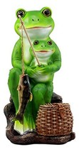 """Ebros Large Catch of The Day Father and Son Frogs Statue 11.75"""" H Rite of Passag - $35.95"""