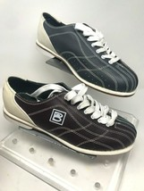 BRUNSWICK Bowling Sport Alley Lane Shoes Maroon/Gray lace up Size Mens 1... - $29.69