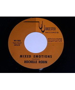Rochelle Robin Mixed Emotions The Last Time I Saw Him 45 Rpm Record Worc... - $24.99