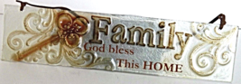 """""""Family"""" Antique Style Glass Wall Art Plaque  Sign Decor - $10.00"""