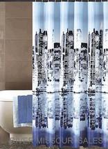 "Metropolis CityScape Peva Shower Curtain, City Skyline Design 70"" x 72"" ... - $19.98"