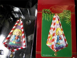 2003 Carlton Heirloom Granddaughter Christmas Ornament & Twist Doll Toy w Box - $12.76