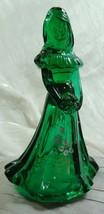 Fenton Bridesmaid Doll Emerald Green Hand Painted Glass Bridesmaid Doll - $84.14