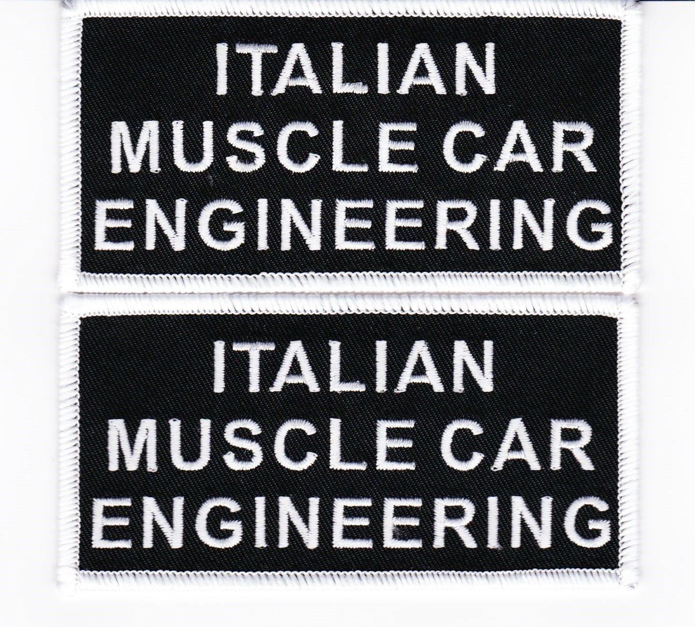 ITALIAN MUSCLE CAR ENGINEERING SEW//PATCH FERRARI LAMBORGHINI EMBROIDERED