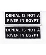 DENIAL IS NOT A RIVER IN EGYPT SEW/IRON ON PATCH ALCOHOLICS EMBROIDERED BIKER - $8.99