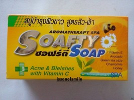 Soafety Aromatherapy Spa Soap Acne & Blemishes with Honey Vitamin C , E (110g.) - $7.99