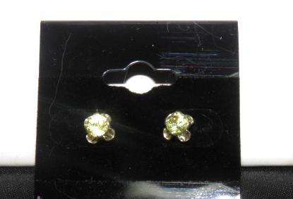 Primary image for Green Mali Garnet Stud Earrings  .73ctw New Sterling Silver Birthstone Reduced